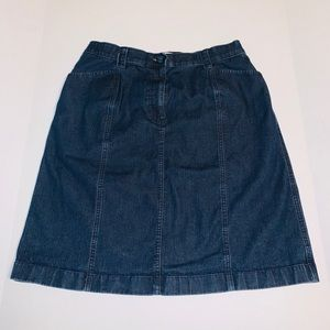 L.L. Bean Classic Fit Denim Skirt